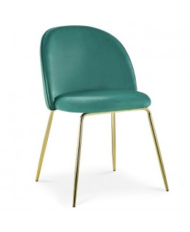 Lot de 2 chaises Scandinave COLIBRI velours vert