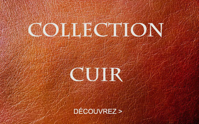 Collection cuir mon achat deco